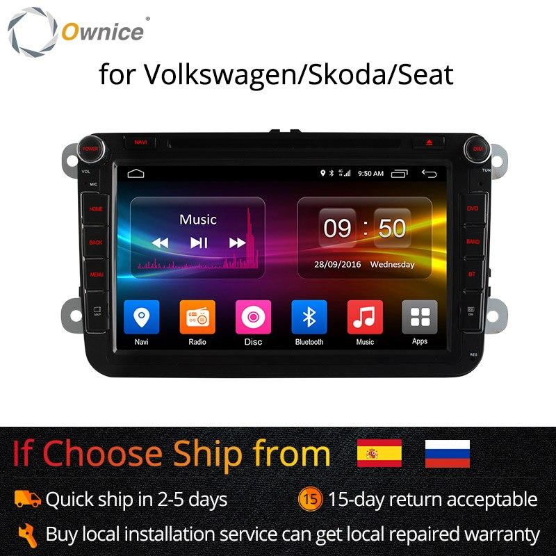 4G SIM LTE Réseau Ownice K1 K2 Octa 8 Core Android 8.1 2G RAM 2 Din dvd de voiture GPS navi Radio Lecteur Pour VW Skoda Octavia 2