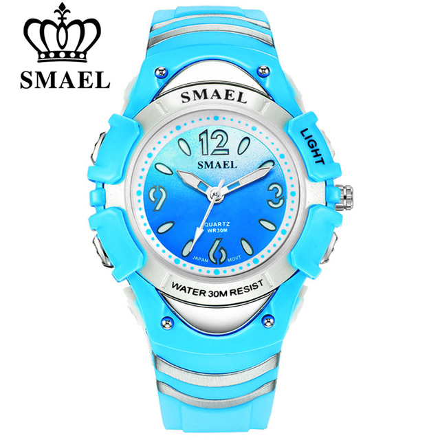 SMAEL Fashion Brand Children Watches LED Digital Quartz Watch Boy And Girl Stude