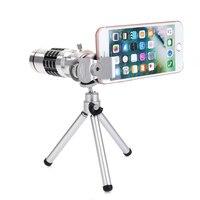 18X Zoom Teleskop Teleobiektyw Aparatu Telefonu + Statyw Osłona obiektywu Uniwersalny Dla iPhone Android Telefony Komórkowe