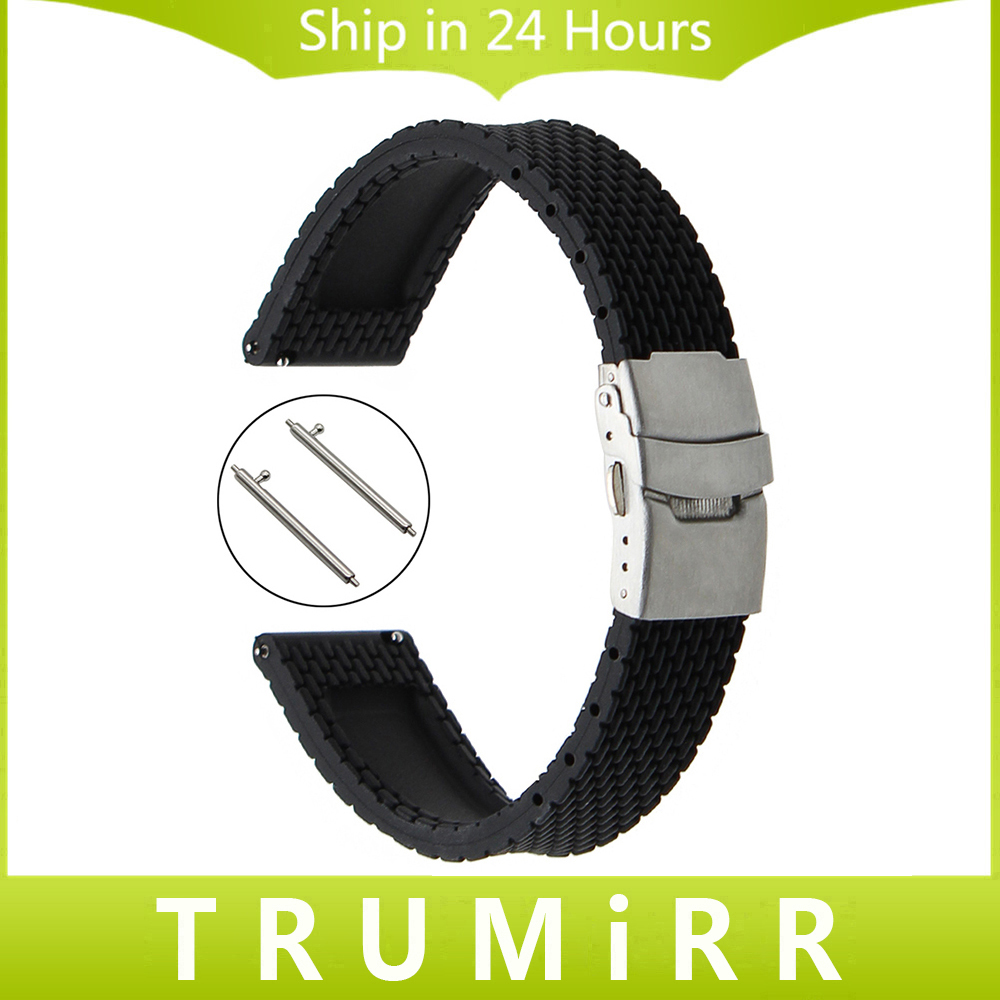 21mm 22mm quick release silicone rubber watchband universal watch band wrist strap stainless steel buckle belt bracelet black Quick Release Silicone Rubber Watchband for Armani CK DW Watch Band Wrist Strap Bracelet 17mm 18mm 19mm 20mm 21mm 22mm 23mm 24mm