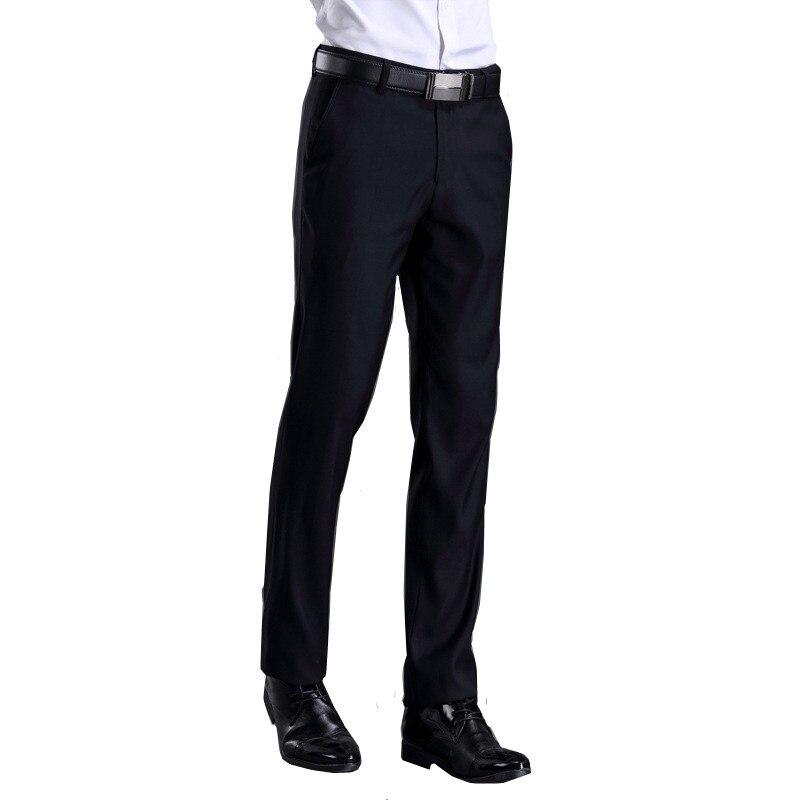 627650b10 2019 nuevos pantalones de traje de negocios de alta calidad para  hombre/pantalones casuales de color puro para ocio masculino/ pantalones de  pierna ...