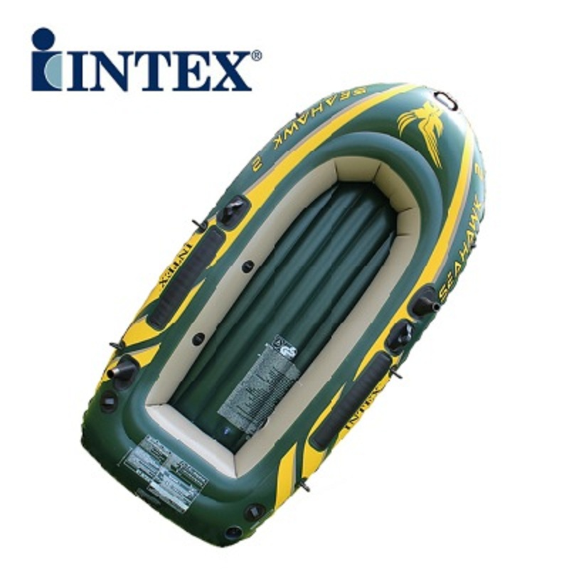 Inflatable boat intex inflatable fishing boat rowing boats for Rubber boats for fishing