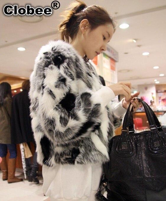 Faux X673 Larga Oficina 2018 Feminino Fur Invierno Abrigo Diseño Casaco Corto Superior Fox Manga Mujeres Tamaño Coat Más 1qIwCSwxT