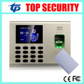 13.56MHZ smart card time attendance and access control with fingerprint reader built in battery for power off SSR attendance