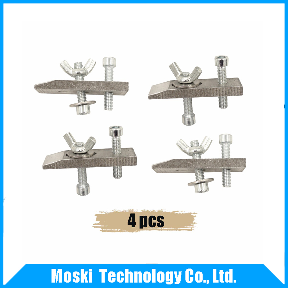 4pcs clamps for CNC engraving machine CNC 2418 3018 Worktable fastening plates fixture rapid fixture clamps fixture clamp fastening compactor gh101a