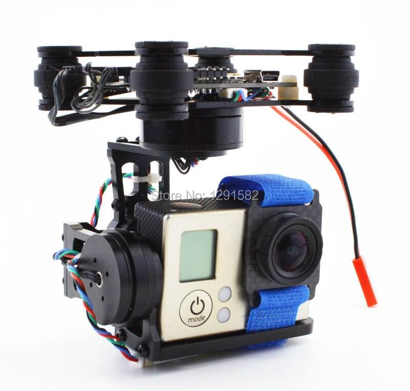 RTF 3 axes sans brosse cardan caméra montage w/2204 260kv 2805 140kv moteur Storm32 cardan contrôleur pour Gopro 2 3 5 Runcam 3