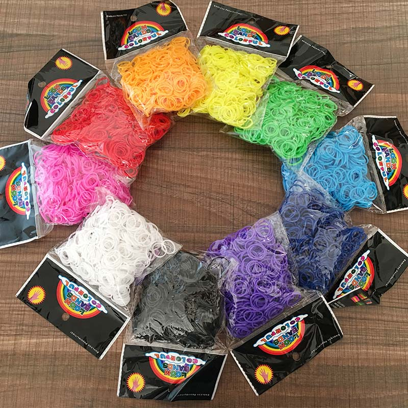 Bands Bracelet Rubber Braided Elastic Strongest-Bands-Available Rainbow DIY 600PCS Refill
