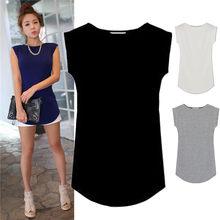 Camisetas femininas cor sólida algodão básico t camisa feminina 2019 moda verão topos simples tshirts em branco feminino