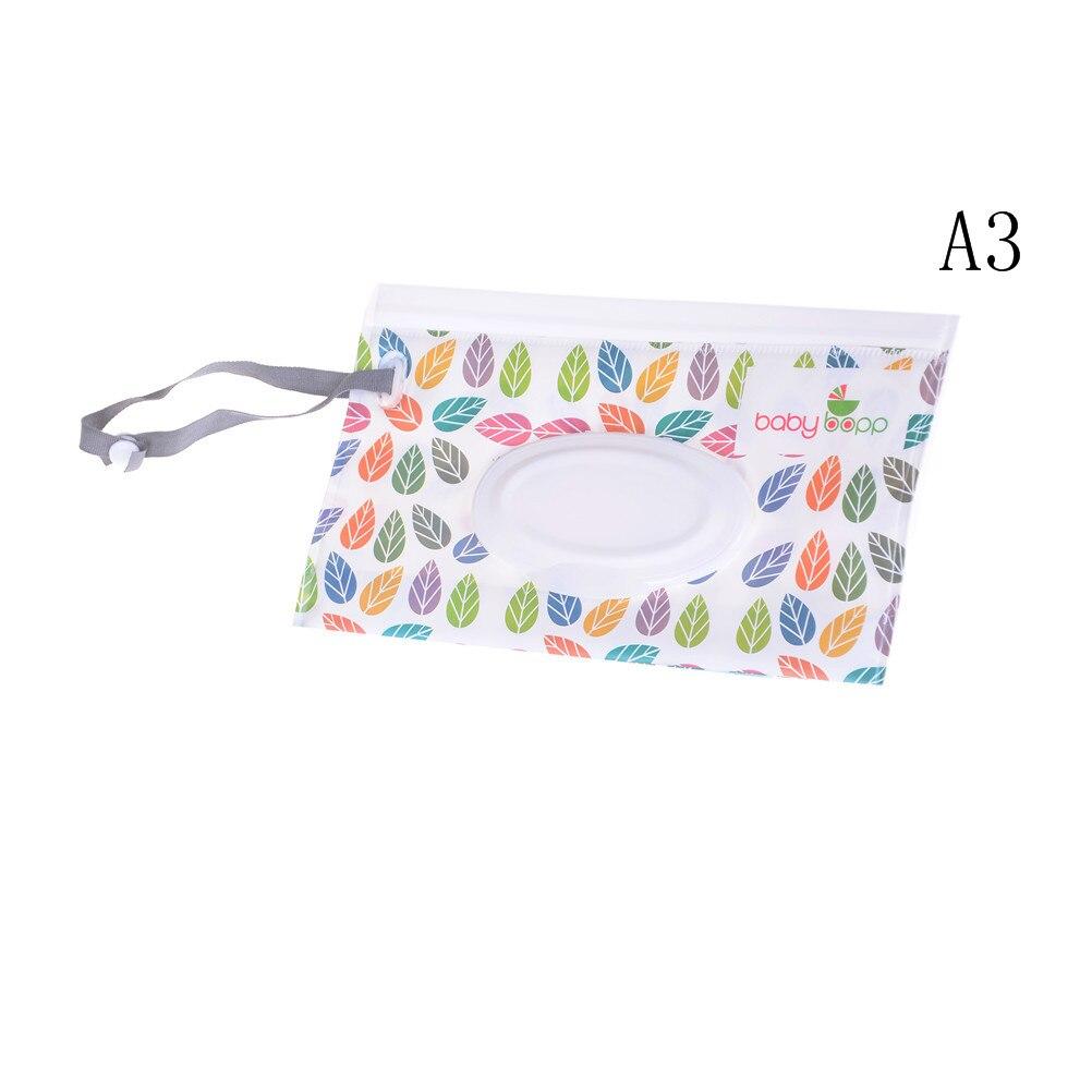 Экологичная коробка для детских салфеток, коробка для влажных салфеток, чистящие салфетки, сумка для переноски, раскладушка, защелкивающийся ремешок, чехол-контейнер для протирки - Цвет: 1pcs
