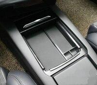 Auto Accessories ABS Non Slip Mat Center Armrest Storage Box Glove Box Storage Box For Tesla