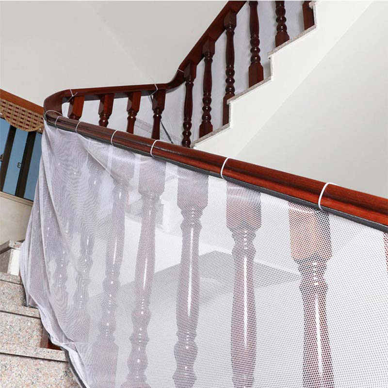 Children Safety Stair Mesh Net Baby Stairway Protection Safety Fence Kids Anti-fall Railing Stairs Balcony Safe Protecting Net
