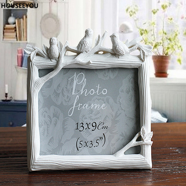 Retro Dekoration Handwerk Fotorahmen Kreative Harz Vogel Und Baum