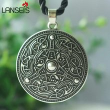1ps Viking Age Disk Gotland, Sweden Scandinavian Men retro Necklace Pendant amulet handmade jewelry punk(China)