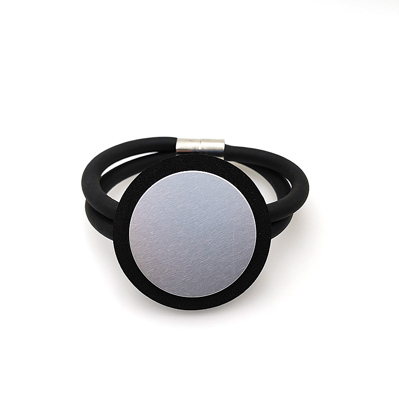 Купить с кэшбэком YD&YDBZ Round Foam Bracelet Jewelry Women Wrist Rubber Leather Rope Bangle Trendy Style Luxury Jewellery High Quality Cuff Gifts