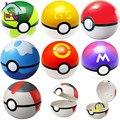1 ШТ. 7 СМ Pokeball + 1 Шт. Мини Игрушка Фигурки 1 Шт. Pokeball Бесплатный Случайная Японии Аниме Игрушки подарки Для Детей