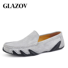 Fashion Brand Men Casual Loafers Suede Leather Top Men's Cas