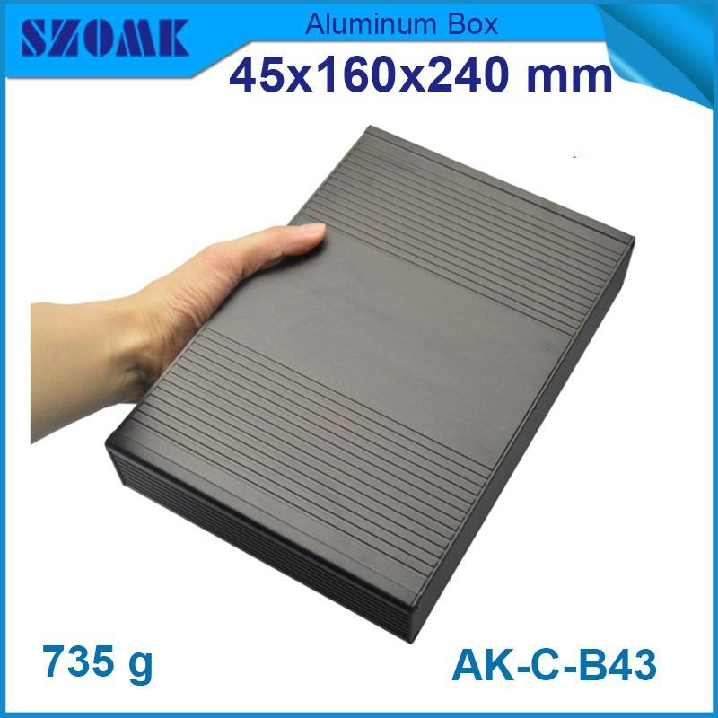 10pcs/lot new buy direct from china Black color aluminium enclosure anodizing 45(H)x160(W)x240(L) mm china market of electronic 10pcs d718 10pcs b688 10pair good qualtity hot sell free shipping buy it direct