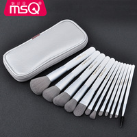 MSQ New 12pcs Makeup Brushes Wooden Foundation Powder Cosmetic Eyebrow Eyeshadow Brush Make Up Brush Sets Tools Pincel Maquiagem