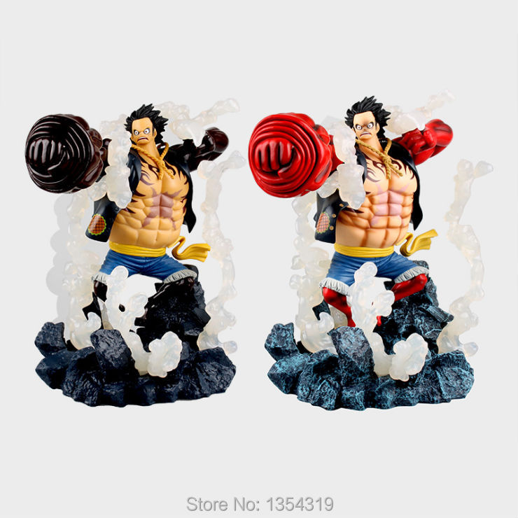 Anime Japanese one piece action figures Monkey D Luffy Gear 4 With Aura Luffy figure model toys collection gift juguetes hot anime one piece monkey d luffy gear fourth pvc action figure collection model toy
