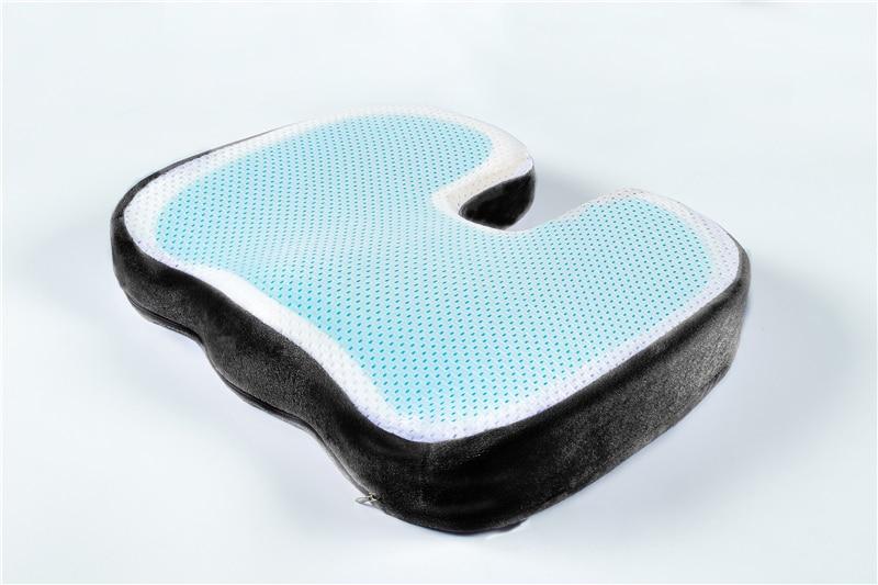 HTB1s 7id8WD3KVjSZFsq6AqkpXai PurenLatex 46*36 U Shape Silicone Gel Cushion Memory Foam Pillow Coccyx Protect Slow Rebound Summer Cool Chair Cushion Seat Mat
