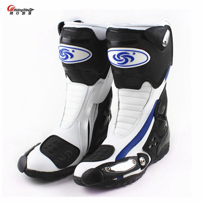 Na świeżym powietrzu sportowy motocykl Mircrofiber skórzane buty Pro Racing buty jeździeckie motocykl motocicleta odporne na zużycie buty motocyklowe