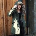 Alta Calidad de la Chaqueta de Invierno Hombres de la Marca 2017 Warm Coat Espesar Famoso Cotton-Padded Parkas Moda Elegante Delgado Más Tamaño 738