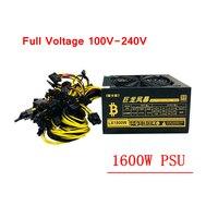 PC Питание 1600 Вт ATX Шахтер источник горные машины БП 6 Графика карты GPU ETH Шахтер 100 240 В для RX470 480 570 GTX1060 1080