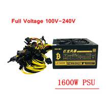 ПК Питание 1600 W блок питания ATX Шахтер источника врубовая машина БП 6 Графика карты GPU ETH Шахтер 100-240 V для RX470 480 570 GTX1060 1080