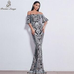 Image 1 - Poems Songs New Style elegant luxury Evening dresses long vestido de festa longo prom dress robe de soiree evening gowns