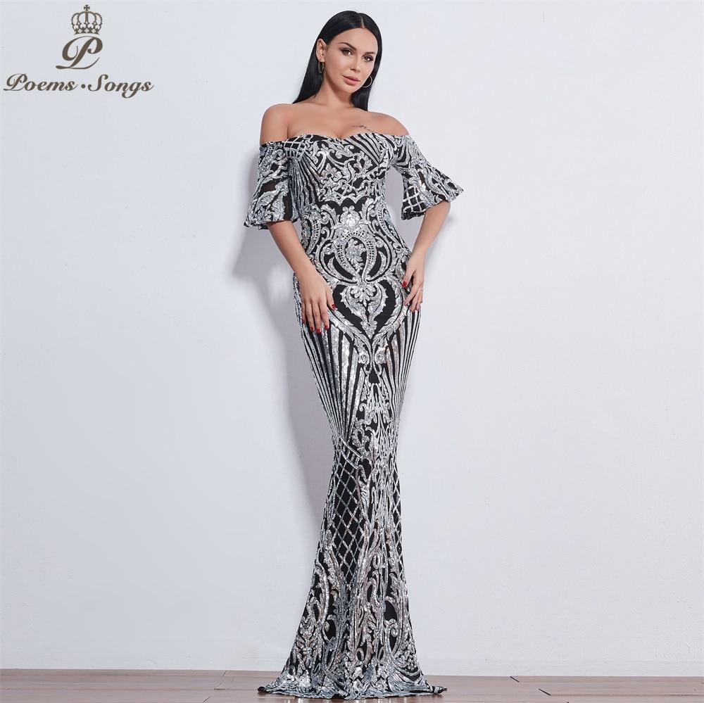 49a9d9755b3 Poems Songs New Style elegant luxury Evening dresses long vestido de festa  longo prom dress robe de soiree evening gowns
