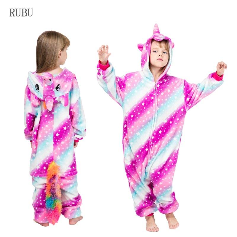 82a649c3c310d Kigurumi garçons filles licorne pyjamas animal panda pyjamas onesie enfants  combinaison enfants dormeurs couverture vêtements de nuit enfants salopette  ...