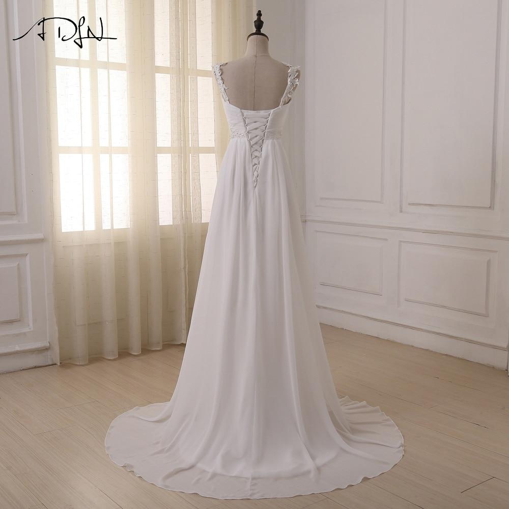 ADLN pludmales kāzu kleita 2017 Pieejams Plus izmērs Spageti - Kāzu kleitas - Foto 2