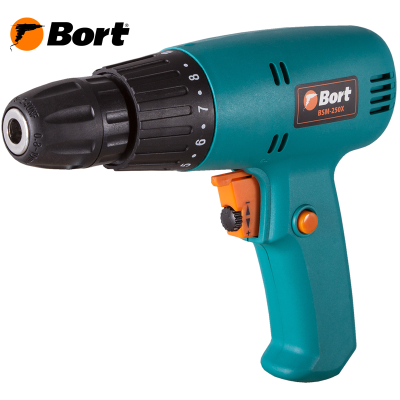 Electric drill screwdriver Bort BSM-250X voto universal 21v max li ion lithium rechargeable battery with flat push type for electric drill electric screwdriver