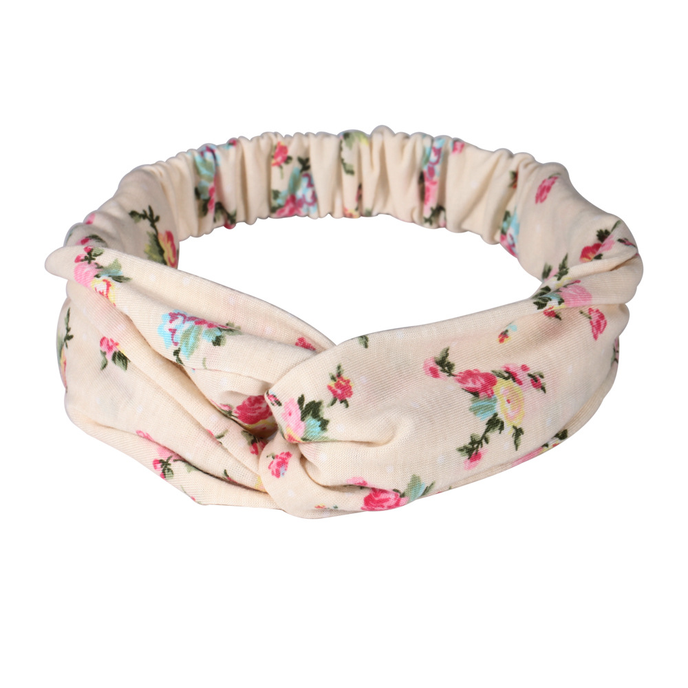 Haimeikang Active Hair Scarf Headband Headwear Retro Flower Print Elastic Hair Band for Women Girls Head Bands Hair Accessories metting joura vintage bohemian ethnic tribal flower print stone handmade elastic headband hair band design hair accessories