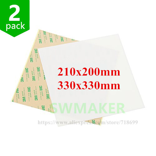 Pei Rating: 2pcs 330*330mm 210*200mm High Quality Polish PEI Sheet 3D