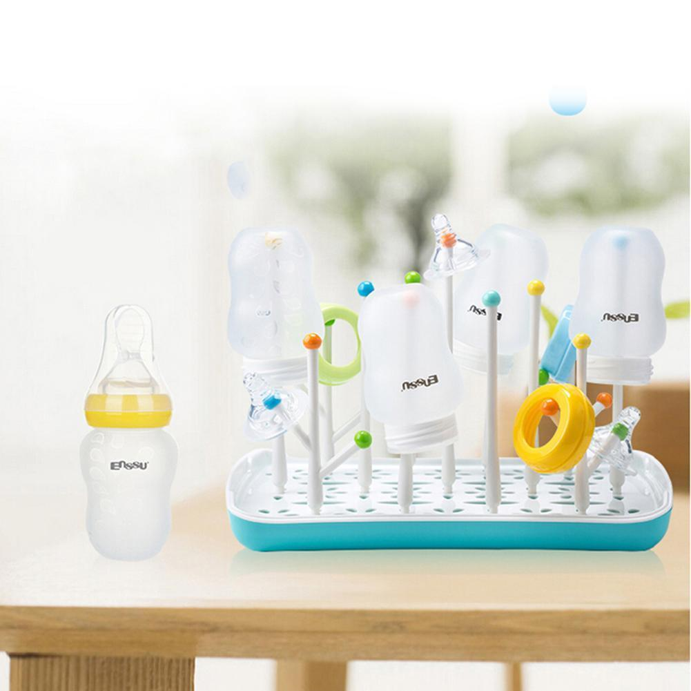 Original Enssu Brand Baby Bottle Drying Rack Sippy Tots BPA-Free Large for Bottles and Bottle Accesories Free Shipping