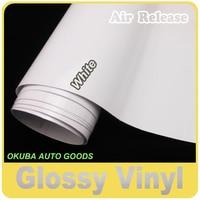 Gloss White Vinyl Glossy Film Car Wrapping Glossy Wrap Sticker Full Body Car Sticker 1.52*30m/roll