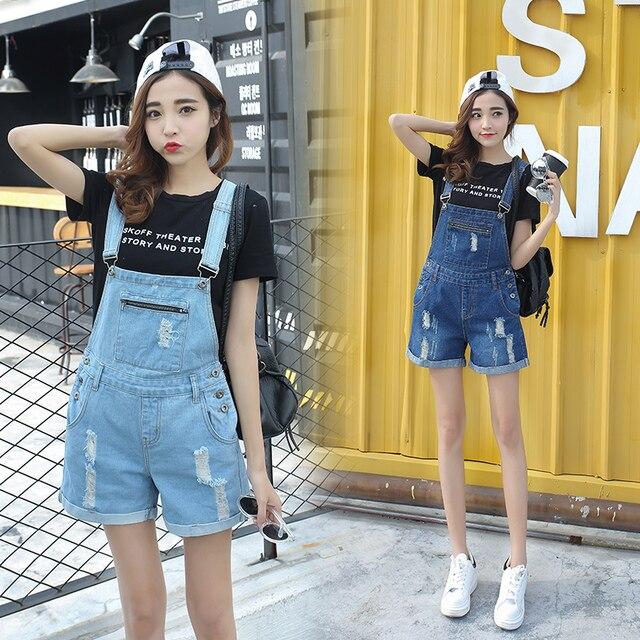 a2b790a060e5 S-XL 2 colors Summer Style Denim Shorts Womens Jumpsuit Denim Overalls  Casual Girls Pants Jeans Short Blue Fashion (B1761)