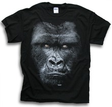 Hot Sale Fashion Mountain Gorilla T Shirts Big Primate Africa Forest printed t shirt  men t shirt casual tops