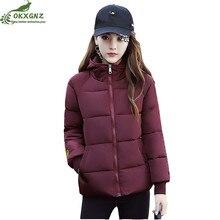 New winter women Down cotton clothing short paragraph hooded jacket coat women fashion smiling face warm Outerwear OKXGNZ AF153