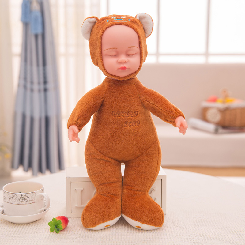 Dropshipping Promotion 38cm Lovely music Evade glue dolls Sound Record Repeat Stuffed Plush Animal Kawaii sleep doll Toys