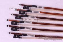 89 #5 stücke Brasilien wood4/4 Runde STICK Violinbogen Ebenholz Frosch Pariser Augen