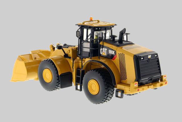 Modèle de jouet moulé sous pression Norscot 150 Caterpillar CAT 980K chargeuse sur pneus pour machines dingénierie 55289 pour cadeau garçon, Collection, décoration