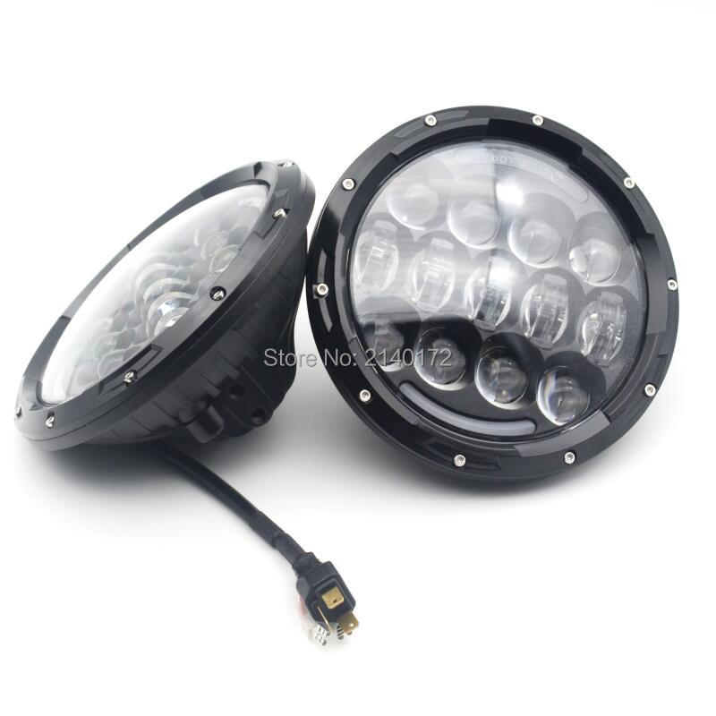 Newest 7inch round  led headlight  High/Low Beam Yellow Turn signal White DRL Headlights Lamp for Wrangler Hummer JK 7 inch led headlight 7 60w round high