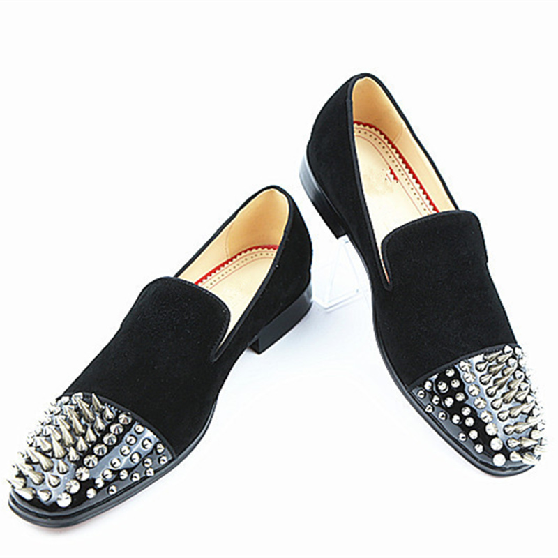 Do Star Elegante Pic Baixo Pé Low Casual Embellished as Top Chaussures Homens Redondo Pic Europeu Dedo Sapato Hommes Salto Super Rebites As Sapatos Marca Luxo De R8xTg
