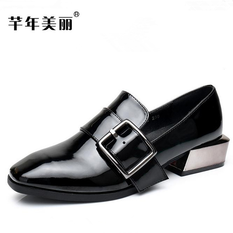 Large size 40-43 Women shoes Square head Crude heel black, Grey Office&career Classics shoes spring autumn high heels Female spring autumn national style crude heel high heels genuine leather large size women shoes anti skid elderly shoes pumps obuv