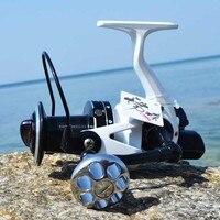 Risn carretel de pesca  carretilha de fundição de metal completo para pesca no mar  giratório  mm7000 mm10000 15 + 1bb carretel de molinete