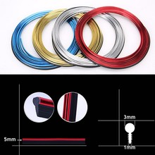 5 Meters Car Seal Accessories Styling Interior Decoration Strips Universal 3D Thread Strip Moulding Trim Dashboard Door Edge(China)