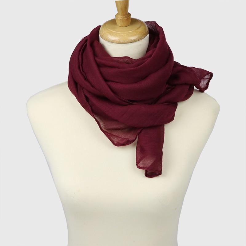 Neelamvar 2019 jesen zima Šal Žene velike veličine Čvrsti pamuk - Pribor za odjeću - Foto 3