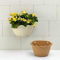 Piccolo/grande beige/marrone chiaro living muro planter vertical garden wall mounted hanging planter con un gancio di pesca